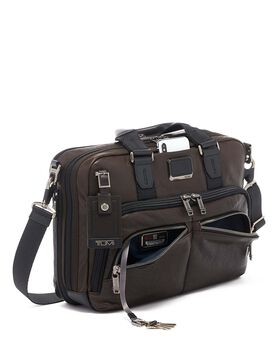Albany Slim Commuter Brief Leather Alpha Bravo