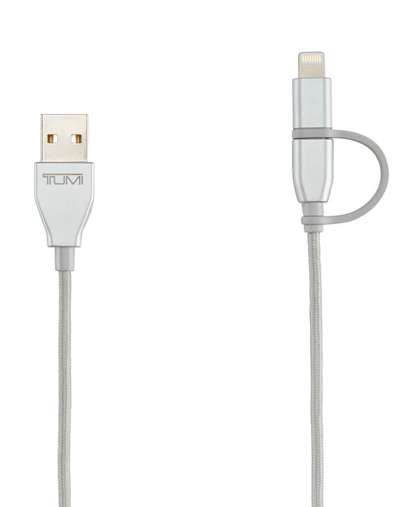 Electronics 2-in-1 Cable: Lightning & Micro USB