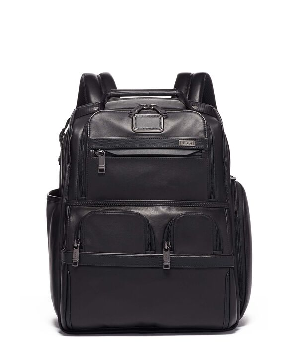 Alpha 3 Compact Laptop Brief Pack® Leather