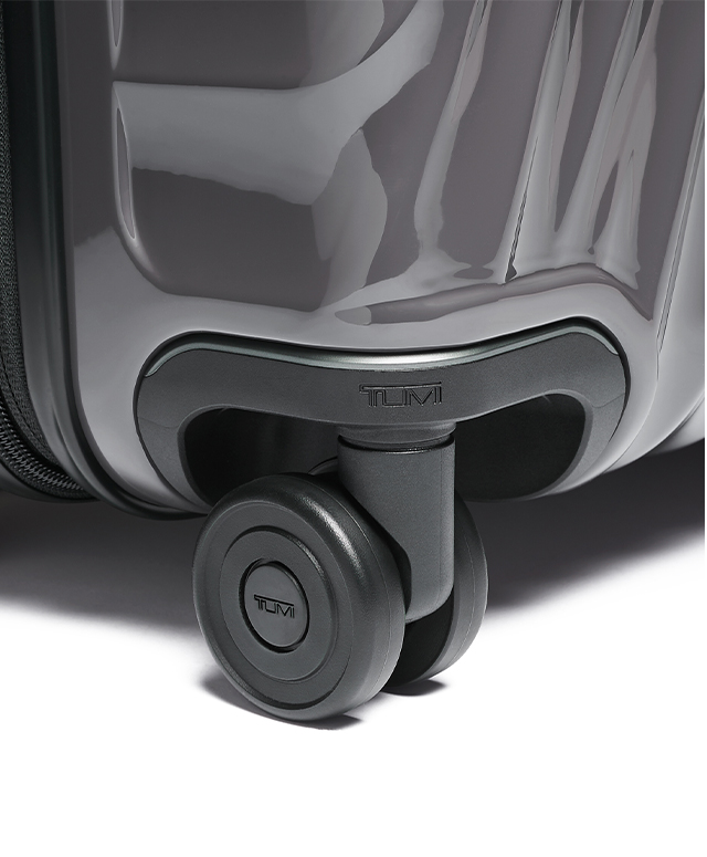 Lightweight dual recessed wheel with metal ball bearing for a smoother, quieter ride